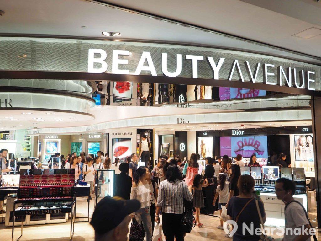 旺角朗豪坊內有超過 200 間店舖,而美容品牌專櫃就超過 70 個。