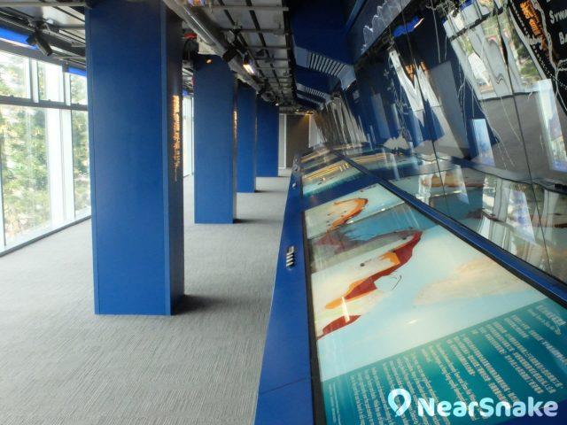 展城館三樓的主題長廊,備有各區自開埠以來的規劃以及天際線變化,極具歷史價值。