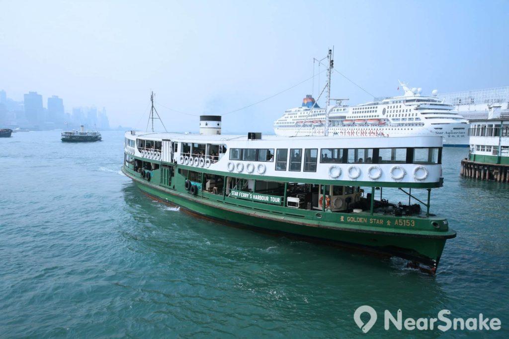 扁沉船身和綠白相間是天星小輪的標誌外形。