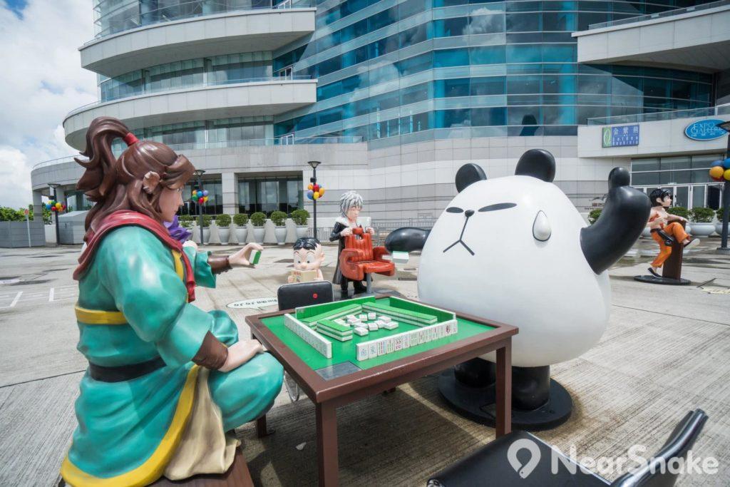 香港動漫海濱樂園: 燎原火用三國策略攻打四方城,對手還有聾貓,小朋友不要學,大朋友就不妨做塘邊鶴,反正兩個都未叫糊。