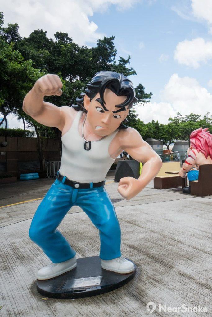 香港動漫海濱樂園: 灣仔一向是浩南哥的勢力範圍,大家前來「踩場」拍攝,當然該跟他打個招呼。