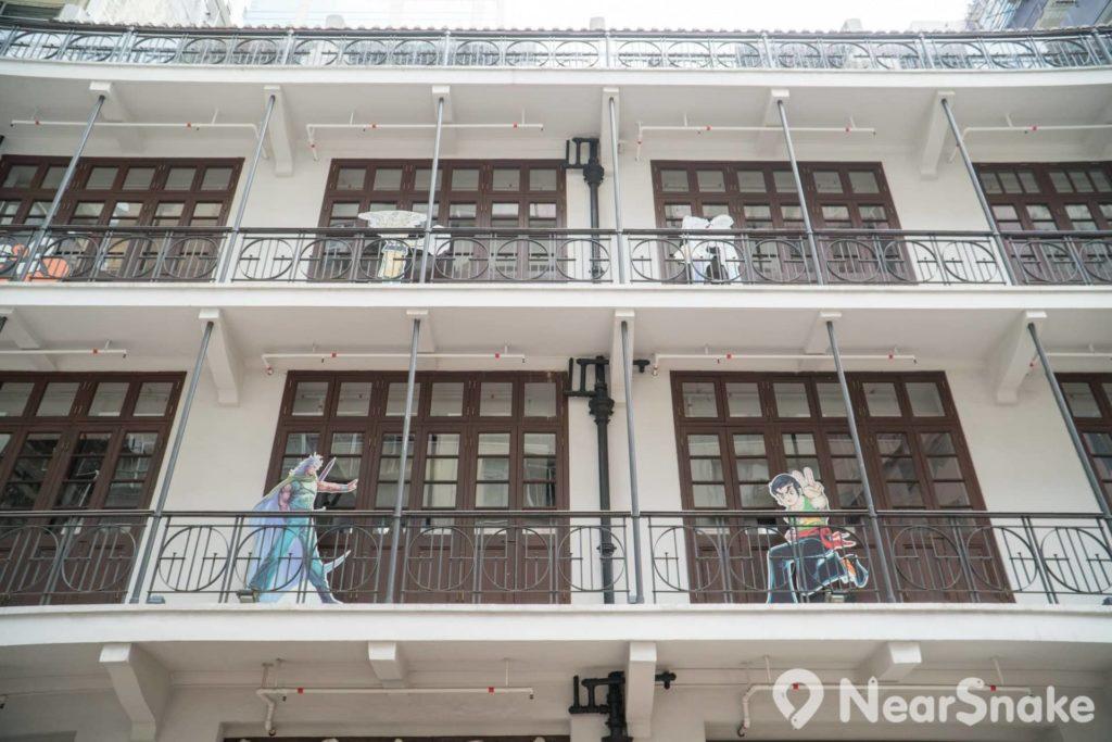 綠屋(動漫基地前身)外牆顏色由綠轉白,或許又是一次集體回憶被偷走了,但換來可重溫香港動漫人物,也不太差吧!