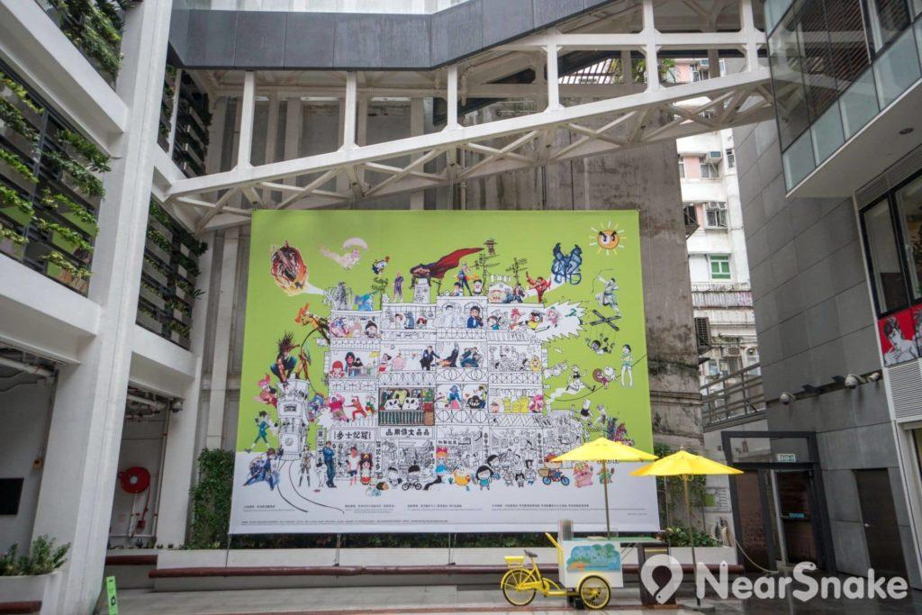 動漫基地中庭廣場擺放了一幅大型壁畫,閣下又能否說出畫上有哪些漫畫人物?