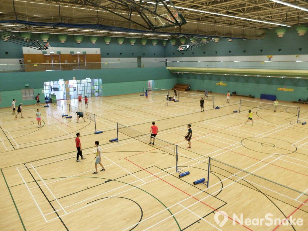 香港公園室內運動場的場內設施,跟一般體育場館無異。