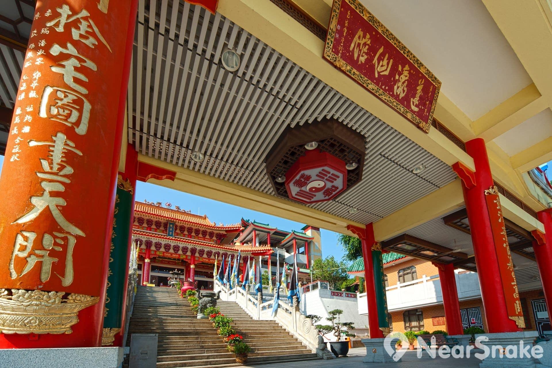 蓬瀛仙館的「蓬」、「瀛」二字,取自傳說中渤海上「蓬萊」和「瀛洲」兩座仙山。