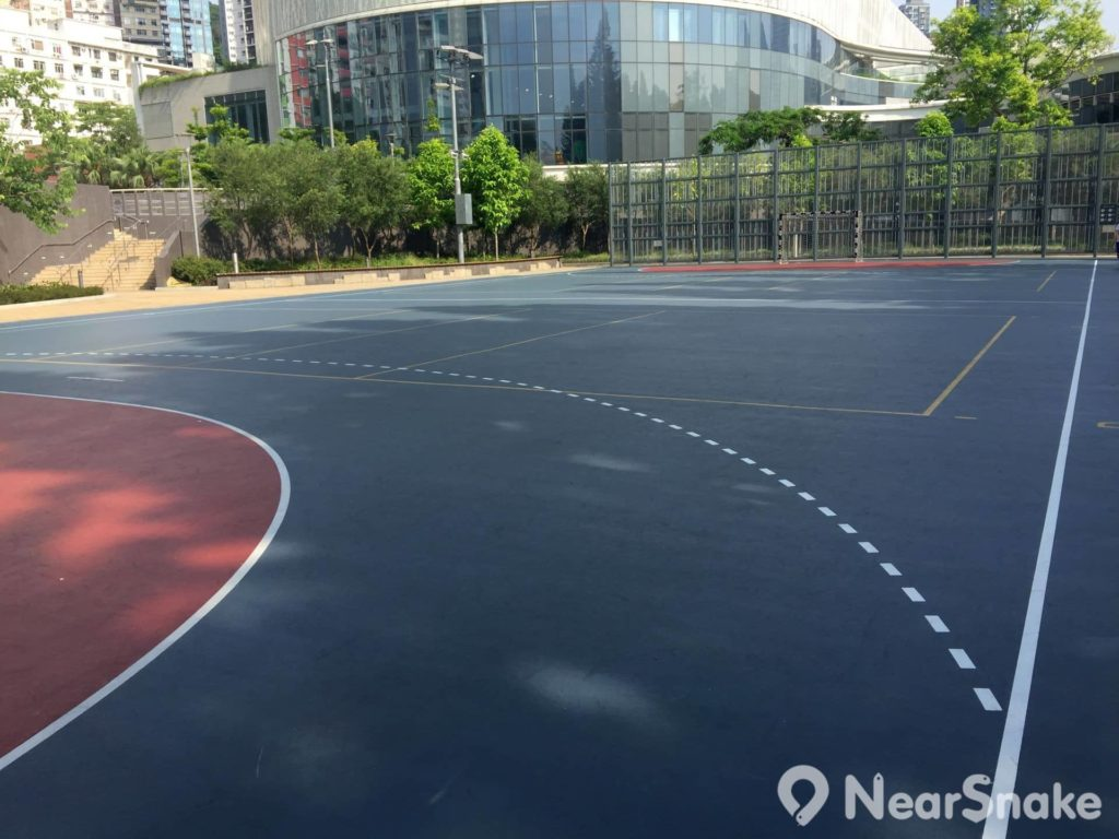雖說是手球及排球兩用的球場,但要打排球,網架可要自己想辦法了,管理員稱園內並不提供。