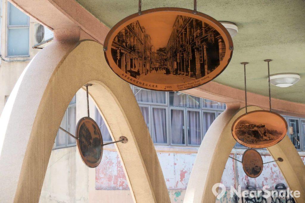 香港路政署於 2002 年把怡和街圓形天橋改裝成「掌故廊」,在橋上天花懸掛了 40 多幅的珍貴歷史圖片,展現灣仔自開埠以來至 1952 年的百多年歷史,來轉一圈便如走一次時光隧道。