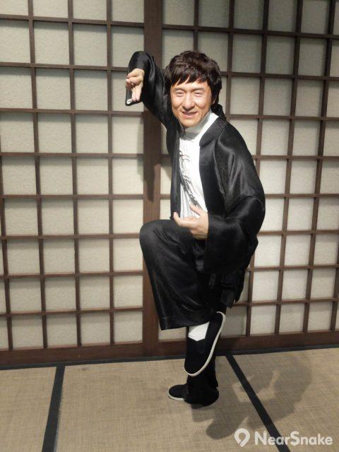 香港著名武打演員成龍當然是「功夫專區」的台柱之一。