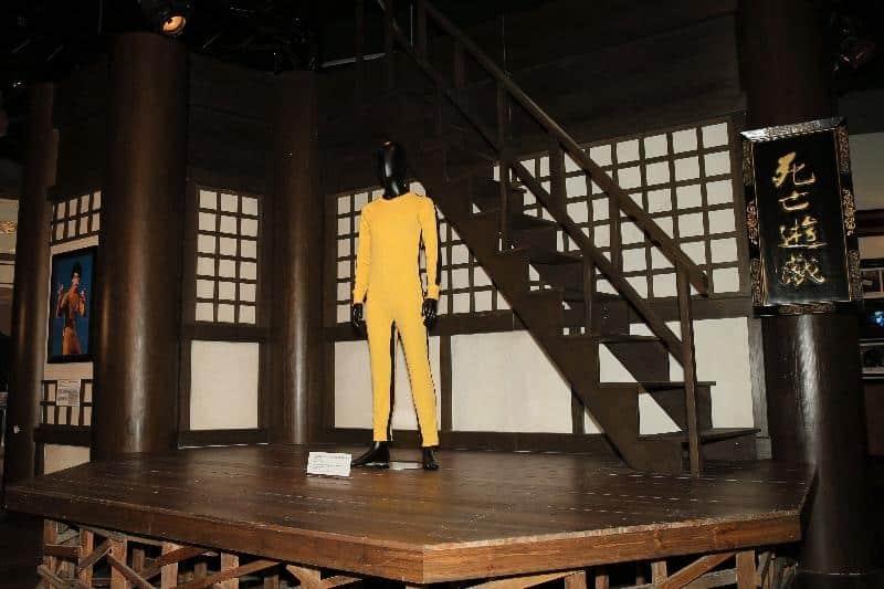 「武‧藝‧人生──李小龍」展覽中最經典的展品,非李小龍在電影《死亡遊戲》中的黃色連身戰衣莫屬。