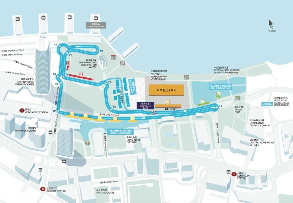 國際汽聯電動方程式賽車 2017 將會在中環海濱展開新一季序幕,賽道全場 1.86 公里,穿梭於多個香港地標之間。