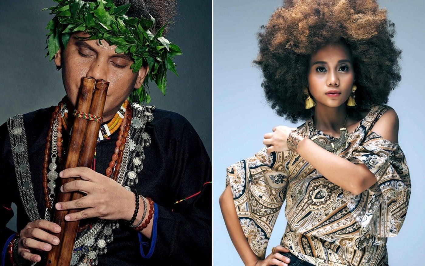 桑布伊和阿爆(阿仍仍)將台灣原住民音樂帶來香港分享。