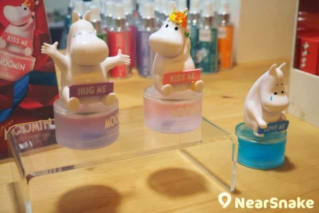 姆明期間限定店精品推介:店內有數款香水發售,其中這款立體香水瓶造型可愛,香水用完也可當作擺設呢!