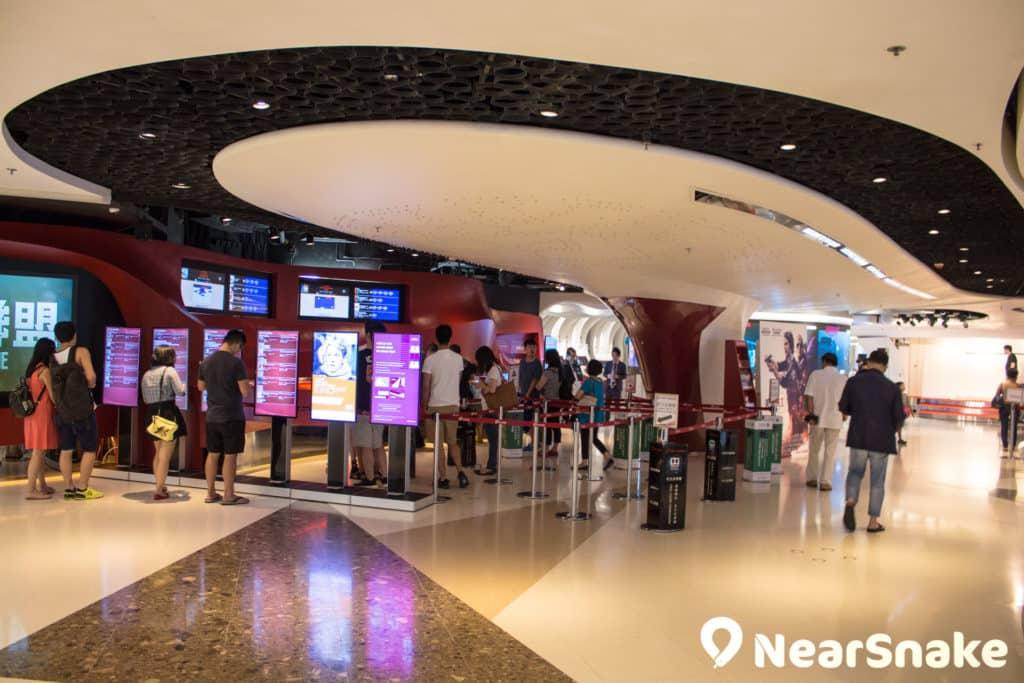 圓方內的 The Grand Cinema 是全港最多院數的電影院。