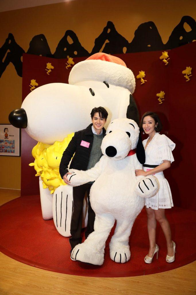 香港藝人羅仲謙及楊怡夫妻倆日前出席活動開幕禮。