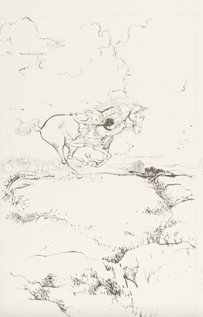 1955 年初,查良鏞博士以筆名金庸在《新晚報》發表首部武俠小說《書劍恩仇錄》,開山之作已經光芒萬丈,大受讀者歡迎,圖中是已故著名畫家王司馬在 1970 年代替《書劍恩仇錄》繪製的插畫。