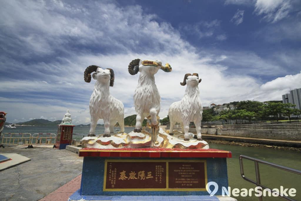 三隻羊的寓意「三陽啟泰藥」相當明顯。