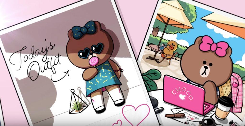 去年 LINE FRIENDS 新店開設在朗豪坊,熊大時尚達人妹妹 Choco(熊美)隆重登場,她可是 LINE TOWN 的 KOL 呢!