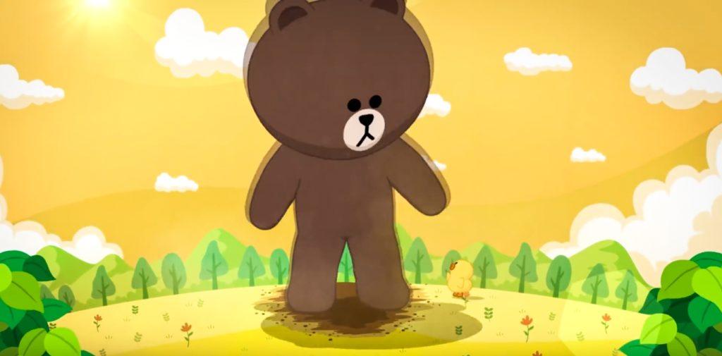 被閃電擊中後,熊大就會變身成為巨型熊大(MEGA BROWN)!