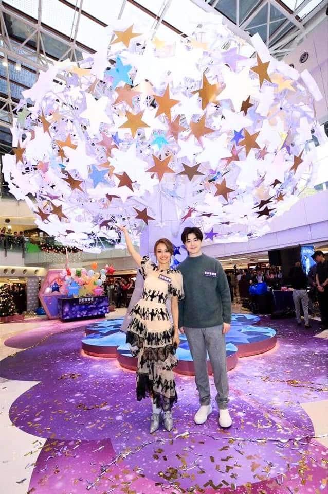 新都會廣場以過萬顆星星 LED 燈,打造全港首棵流星許願樹,並邀香港歌星容祖兒及洪卓立出席揭幕禮。
