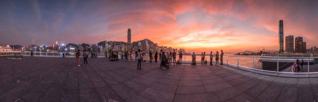 海運觀點成為觀賞維港日落的最新景點。