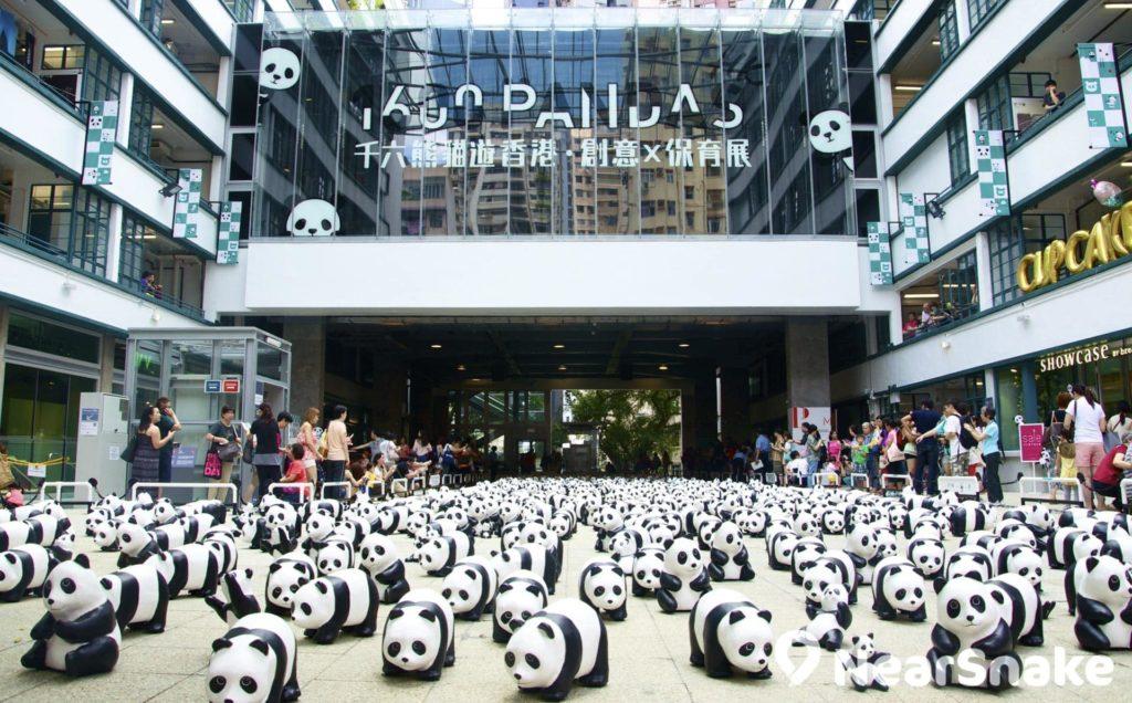 PMQ舉辦過號召力十足的「1600熊貓遊香港 • 創意X保育展」,逾千隻熊貓作品大舉「入侵」,蔚為奇觀。