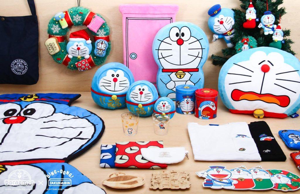 同場發售一系列獨家限定精品,如菩提達摩叮噹玩偶、攬枕、玻璃杯、時間布環保袋。