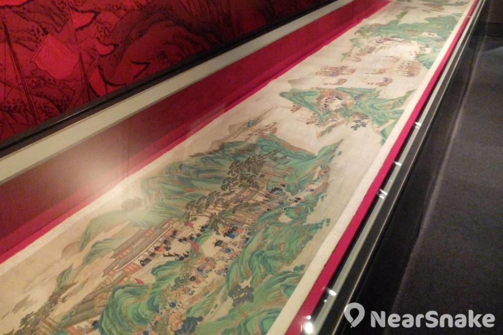 海事博物館內的《靖海全圖》仔細描繪了明清時期的海上戰事。