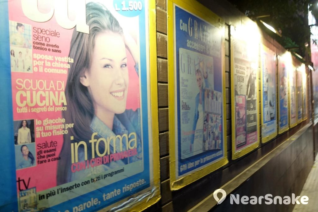 諾士佛臺的巷壁上掛滿外國雜誌封面作裝飾,為這裡增添一點時尚氣氛。