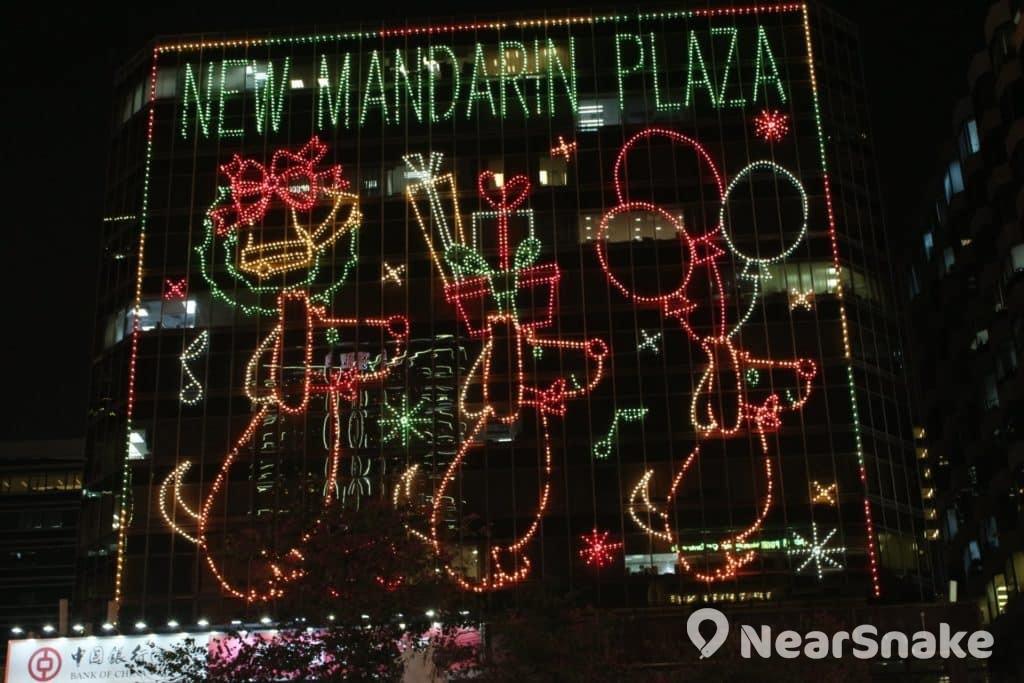 新文華中心的 2017 年聖誕燈飾以「狗狗」為主題。