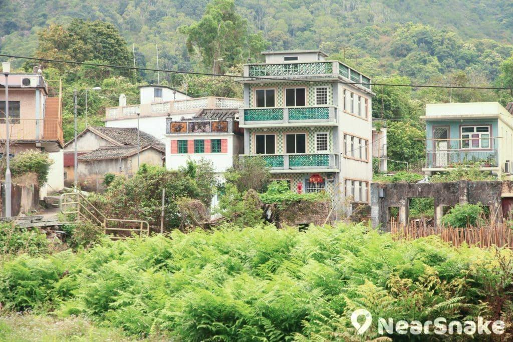 烏蛟騰村建有為數不少的村屋,老一輩村民依舊在這過著日子。
