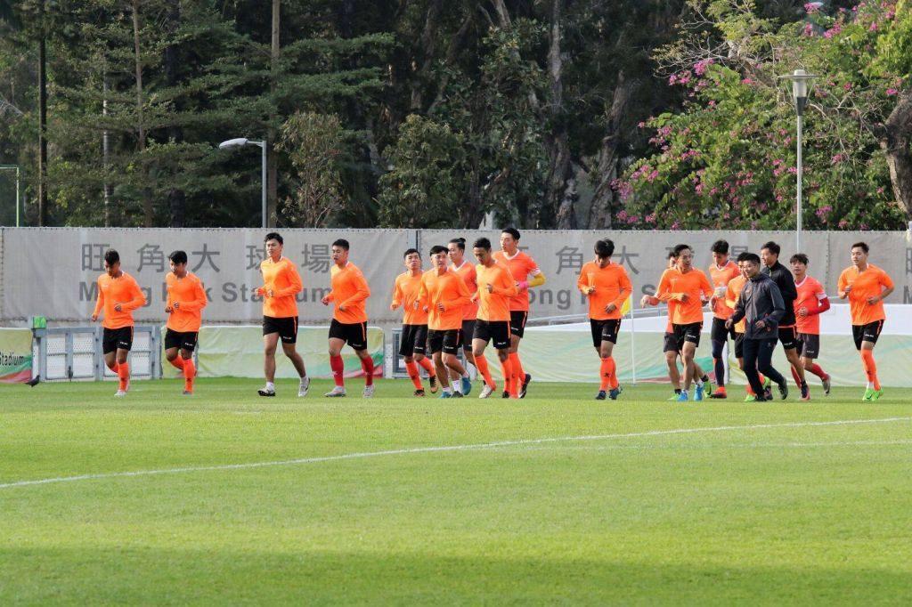 香港隊為省港盃備戰的情況。