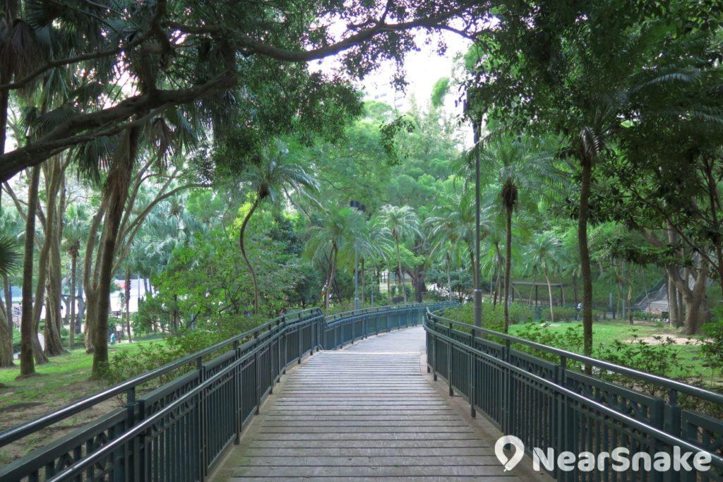 摩士公園三號公園是 4 個公園中最大的一個,中間位置更有一座小山丘!