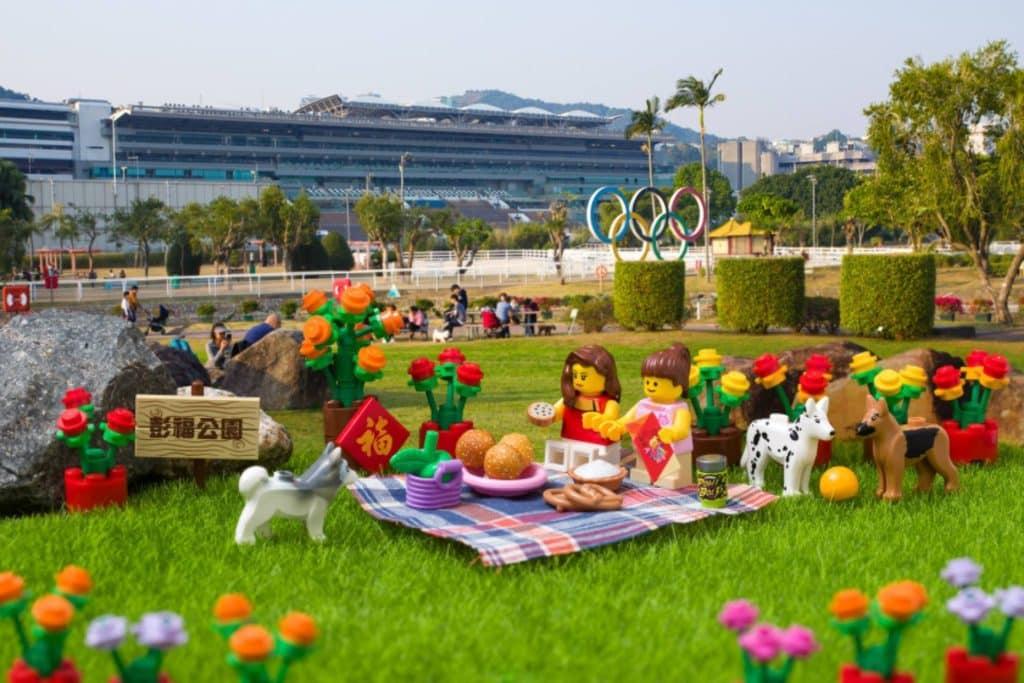 LEGO minifigures 沙田地標景點:彭福公園