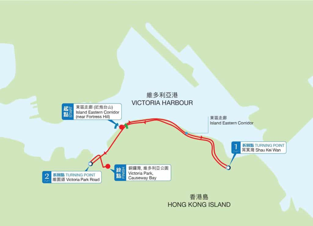 香港渣打馬拉松2018 十公里路線