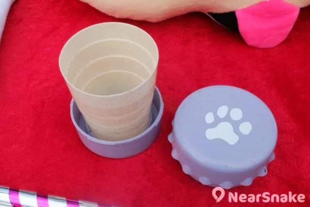 維園年宵特色產品:由小麥製造出來的環保伸縮杯