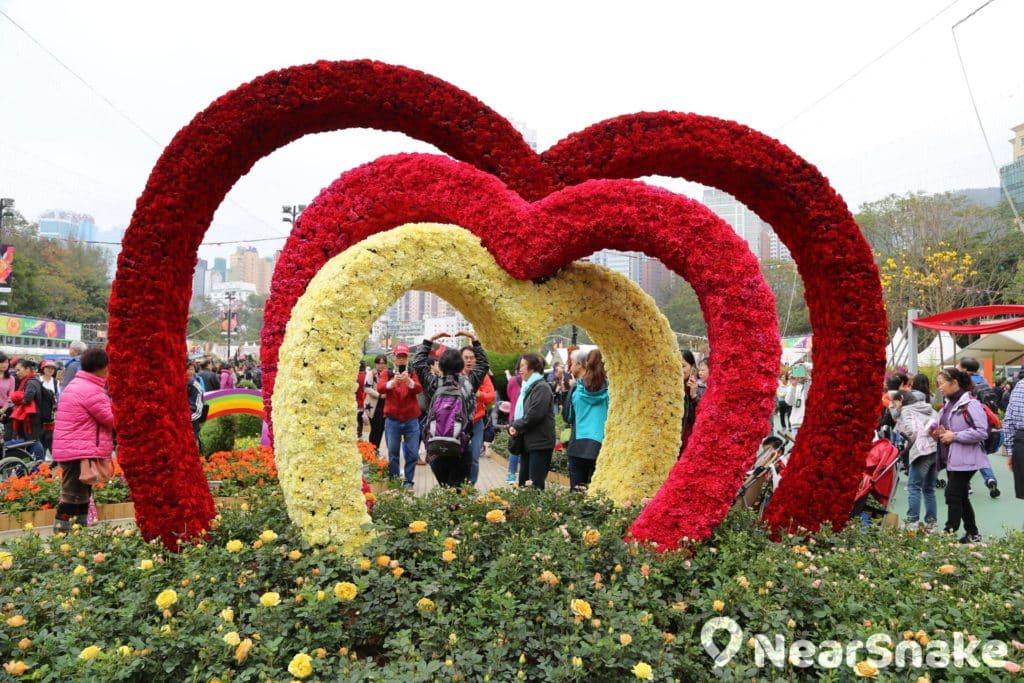 心形圖案相信會是香港花卉展覽 2018 的熱門取材之一。