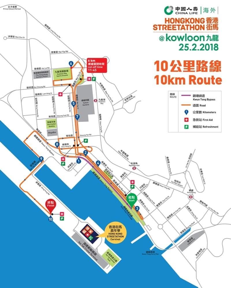 街馬2018路線:10公里路線圖