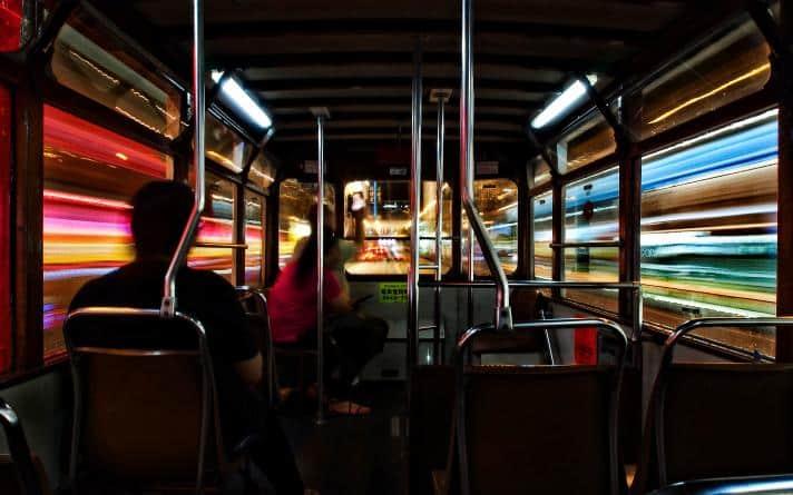 「香港未來」組別第一名作品:流光歲月•拍攝地點:香港電車•得獎者:周子皓