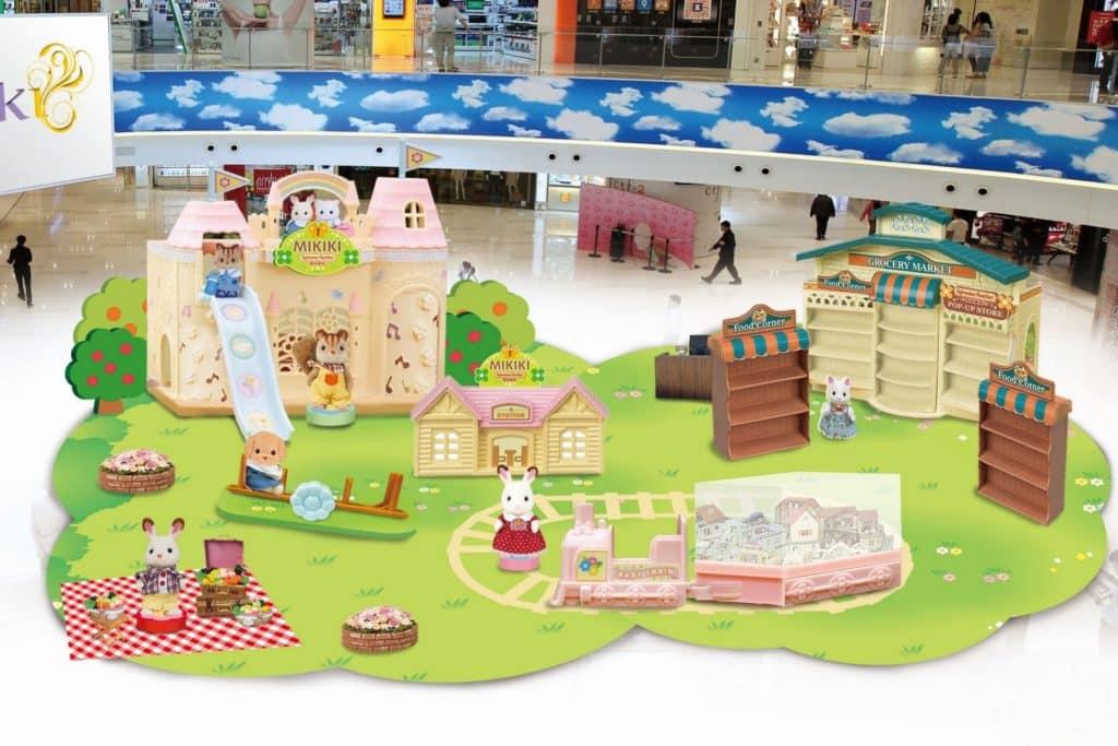 Mikiki•森林家族の樂活莊園會場內搭建五大童趣場景。