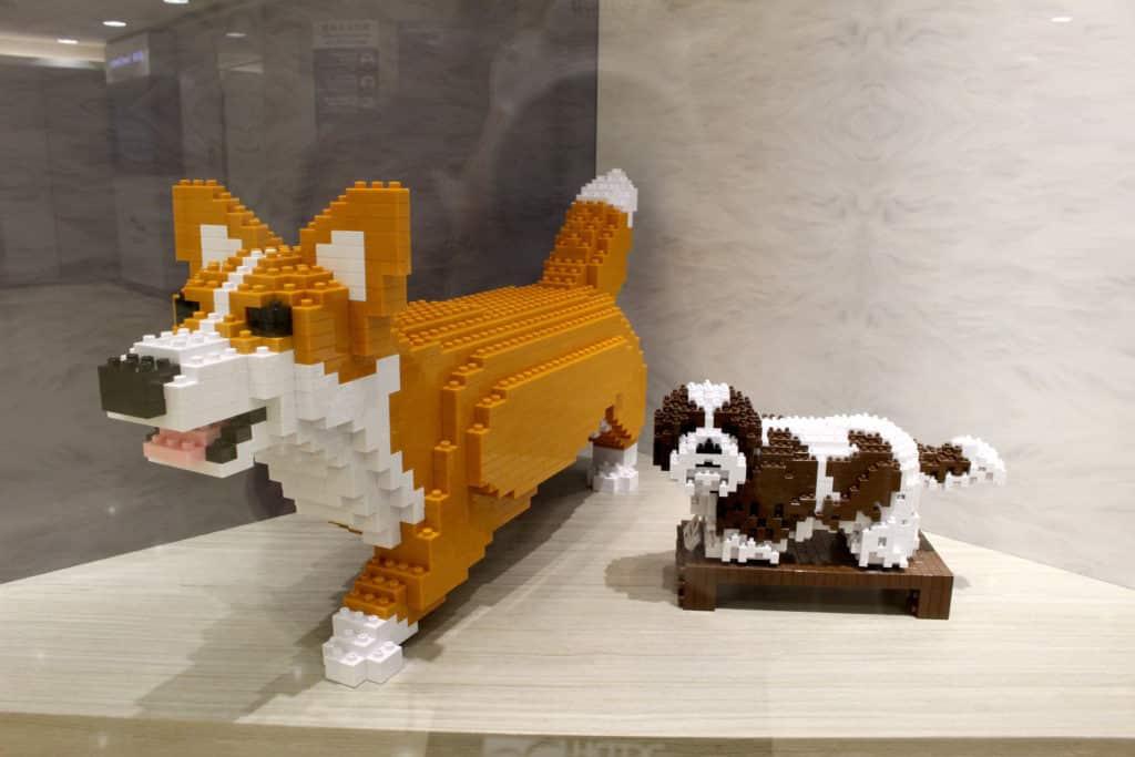 JEKCA-BIG BRICK WORLD 展覽作品:柴犬