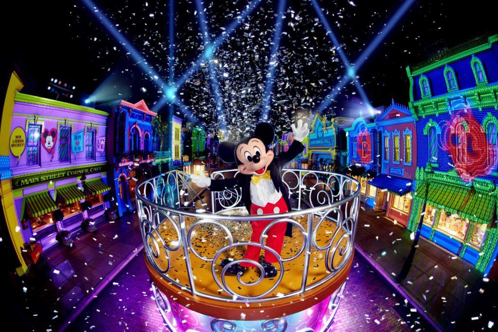 """We Love Mickey!""大街投影盛演"