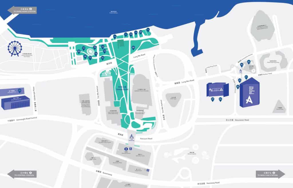 藝遊維港點綴中西區至灣仔一帶的海濱公共空間。