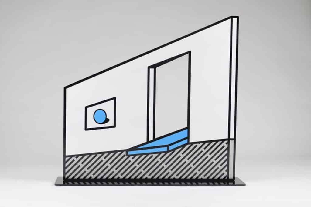 在「幾何符號」展覽中,韓國藝術家 ENJO 試圖探討人眼所見或作品所表達的空間是否真實。