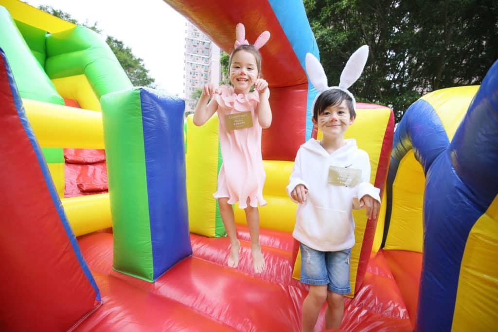 黃金海岸復活節親子尋蛋樂 2018 會場上,將會擺放大型充氣城堡,讓小孩子蹦蹦跳跳。