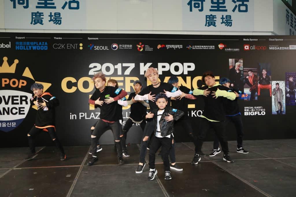 上屆香港區冠軍 Friends Junction Boys 以韓國跳唱組合Got7及BTS的歌曲勝出比賽