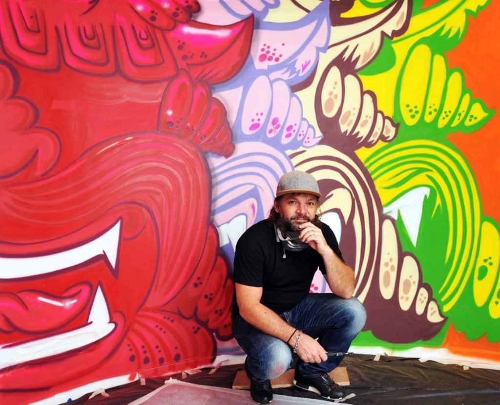 參與 Wham Music Live × Easter Bazaar 的英國塗鴉藝術家 Szabotage