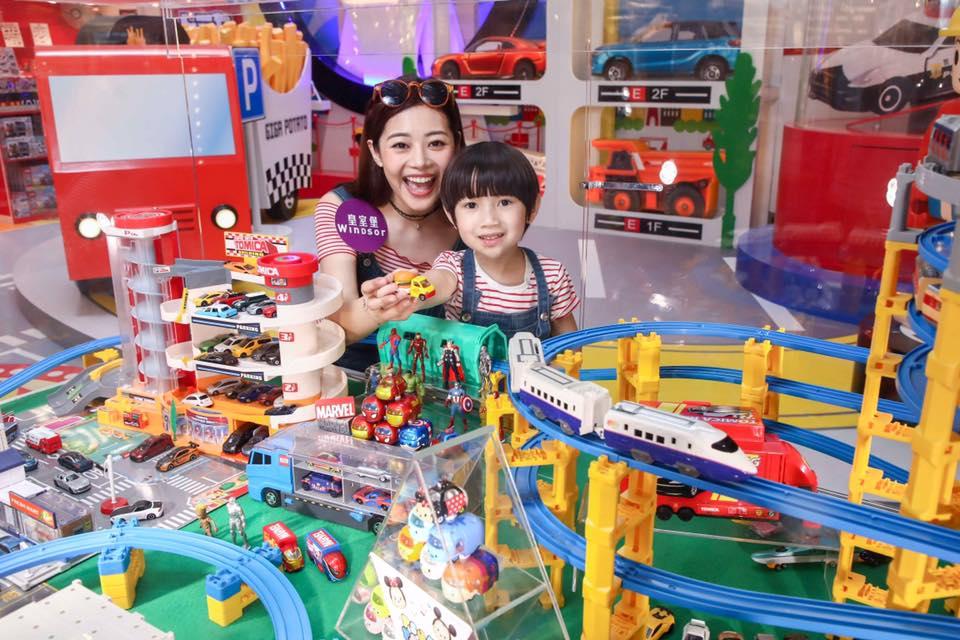 皇室堡 × TOMICA 玩轉車樂園現場展示了 TOMICA 小模型大世界。