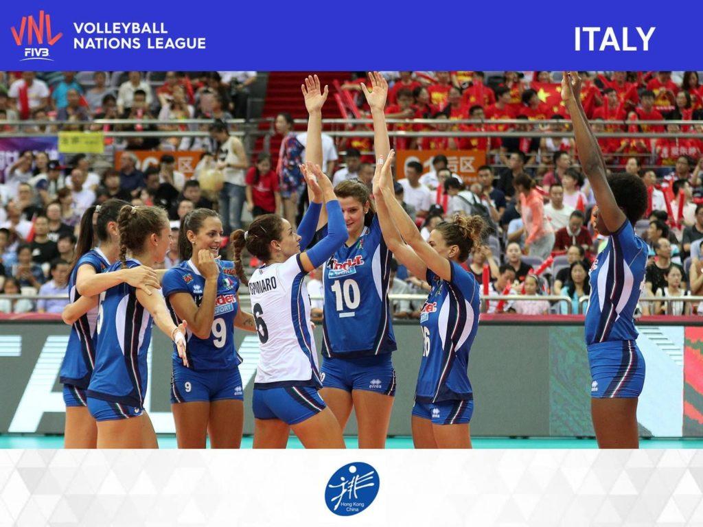 FIVB 世界女排聯賽 2018 香港站參賽球隊:意大利女排,目前世界排名為第 7 位。