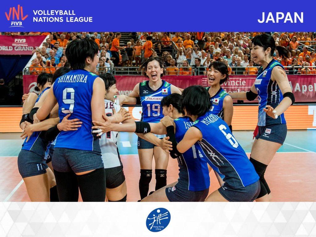 FIVB 世界女排聯賽 2018 香港站參賽球隊:有「東洋魔女」之稱的日本女排,目前世界排名為第 6 位。