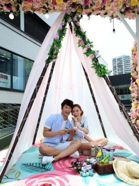 城市露營風格市集:風格帳篷-花系優雅風